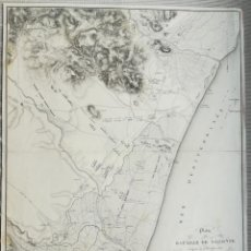 Mapas contemporâneos: MAPA DE LA BATALLA DE SAGUNTO - VALENCIA - GUERRA DE LA INDEPENDENCIA - SUCHET - AÑO 1811. Lote 220672067