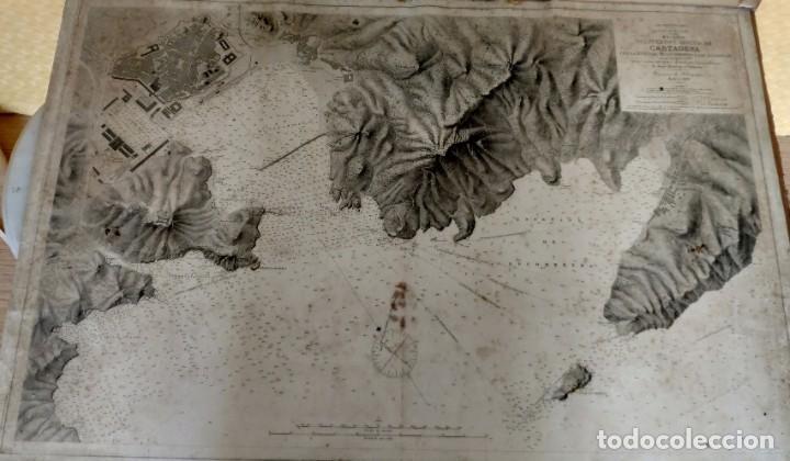 Mapas contemporáneos: PLANO DEL PUERTO DE CARTAGENA CON LA ESCOMBRERA Y ALGAMECA- 1873-1876 - 1000-003-B - Foto 22 - 45836976