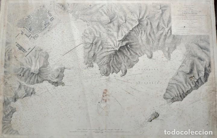 Mapas contemporáneos: PLANO DEL PUERTO DE CARTAGENA CON LA ESCOMBRERA Y ALGAMECA- 1873-1876 - 1000-003-B - Foto 23 - 45836976