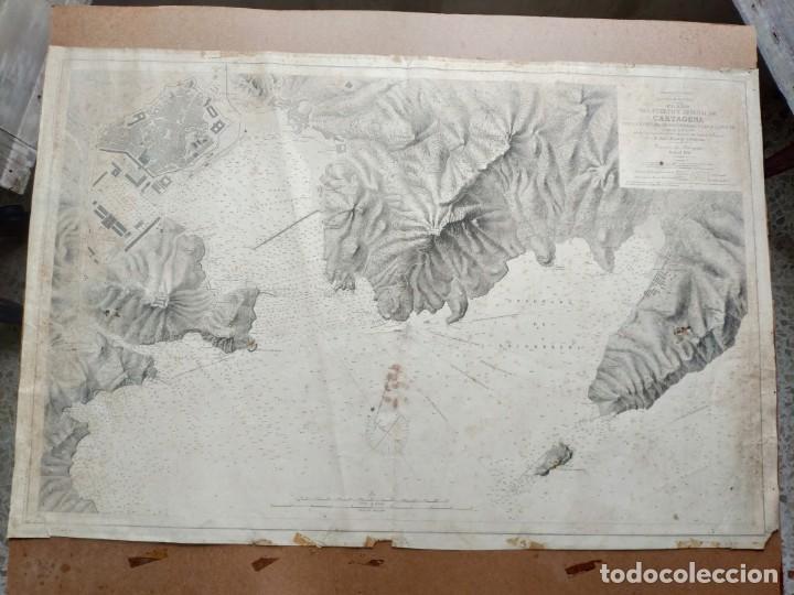 Mapas contemporáneos: PLANO DEL PUERTO DE CARTAGENA CON LA ESCOMBRERA Y ALGAMECA- 1873-1876 - 1000-003-B - Foto 5 - 45836976