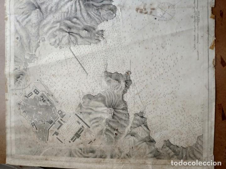 Mapas contemporáneos: PLANO DEL PUERTO DE CARTAGENA CON LA ESCOMBRERA Y ALGAMECA- 1873-1876 - 1000-003-B - Foto 24 - 45836976