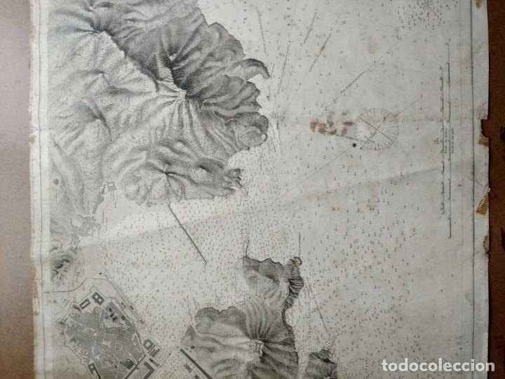 Mapas contemporáneos: PLANO DEL PUERTO DE CARTAGENA CON LA ESCOMBRERA Y ALGAMECA- 1873-1876 - 1000-003-B - Foto 25 - 45836976