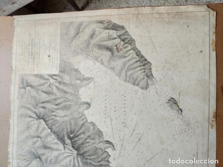 Mapas contemporáneos: PLANO DEL PUERTO DE CARTAGENA CON LA ESCOMBRERA Y ALGAMECA- 1873-1876 - 1000-003-B - Foto 27 - 45836976
