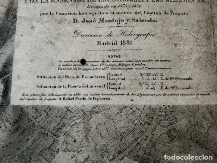 Mapas contemporáneos: PLANO DEL PUERTO DE CARTAGENA CON LA ESCOMBRERA Y ALGAMECA- 1873-1876 - 1000-003-B - Foto 7 - 45836976