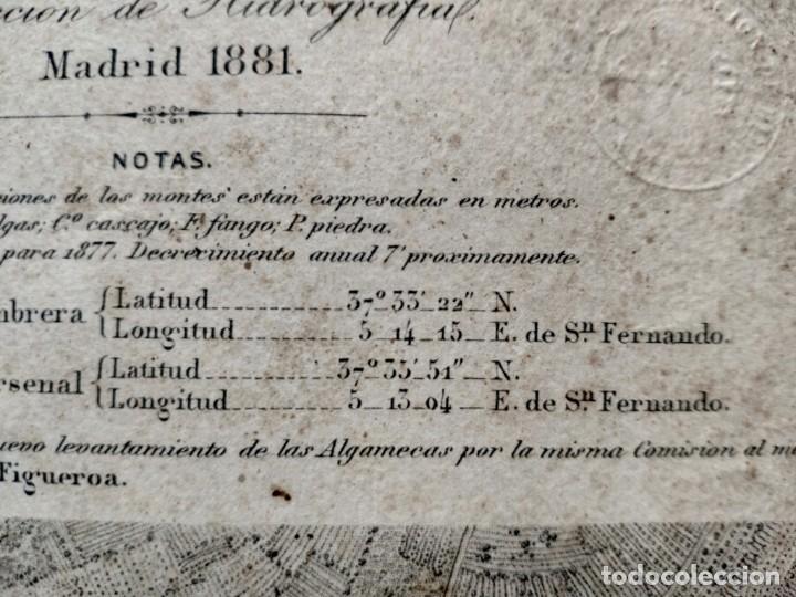 Mapas contemporáneos: PLANO DEL PUERTO DE CARTAGENA CON LA ESCOMBRERA Y ALGAMECA- 1873-1876 - 1000-003-B - Foto 8 - 45836976