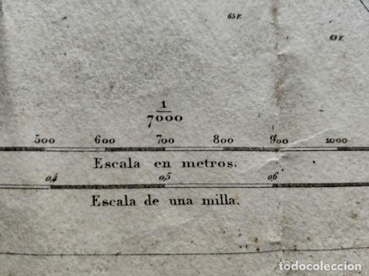 Mapas contemporáneos: PLANO DEL PUERTO DE CARTAGENA CON LA ESCOMBRERA Y ALGAMECA- 1873-1876 - 1000-003-B - Foto 9 - 45836976