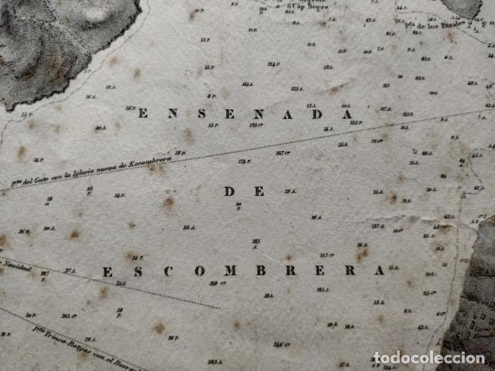 Mapas contemporáneos: PLANO DEL PUERTO DE CARTAGENA CON LA ESCOMBRERA Y ALGAMECA- 1873-1876 - 1000-003-B - Foto 10 - 45836976