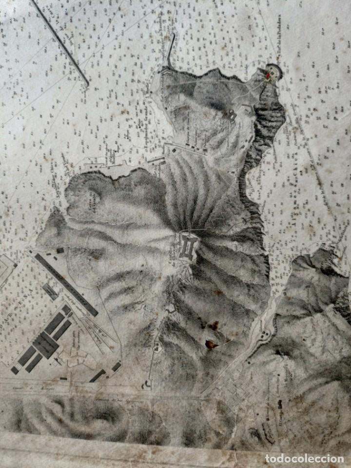 Mapas contemporáneos: PLANO DEL PUERTO DE CARTAGENA CON LA ESCOMBRERA Y ALGAMECA- 1873-1876 - 1000-003-B - Foto 15 - 45836976