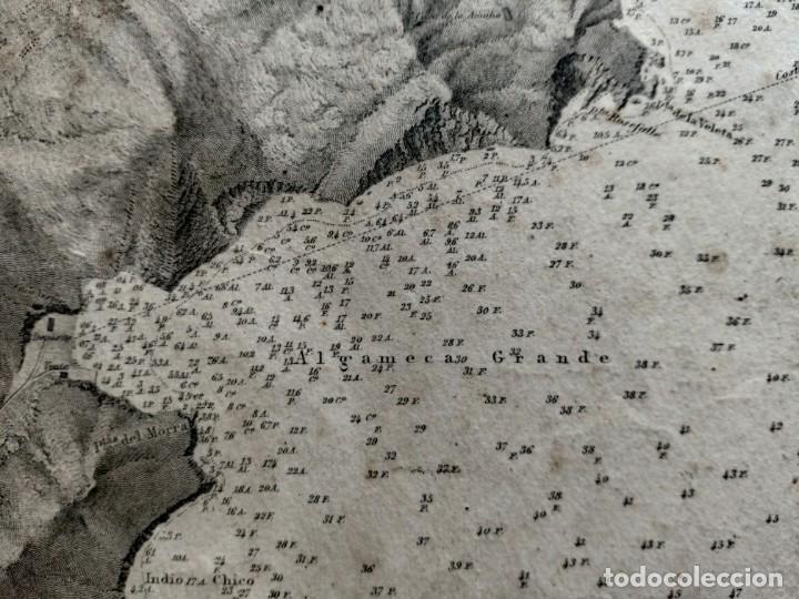 Mapas contemporáneos: PLANO DEL PUERTO DE CARTAGENA CON LA ESCOMBRERA Y ALGAMECA- 1873-1876 - 1000-003-B - Foto 16 - 45836976