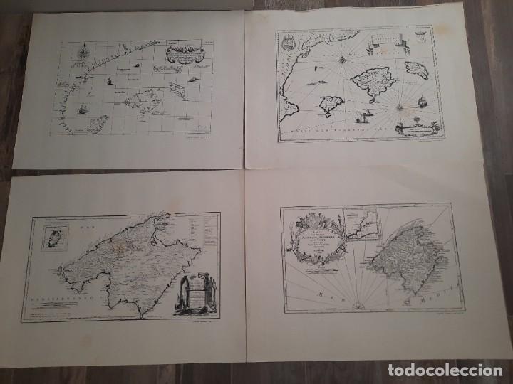 LOTE 4 MAPAS REPRODUCCIÓN BALEARES MALLORCA IBIZA MENORCA EDITORIAL RIPOLL 70 X 54 1981 (Coleccionismo - Mapas - Mapas actuales (desde siglo XIX))