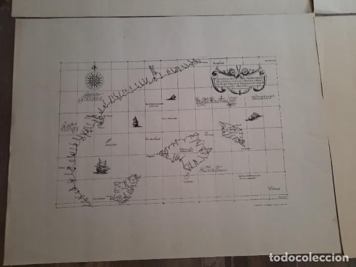 Mapas contemporáneos: Lote 4 mapas reproducción Baleares Mallorca Ibiza Menorca Editorial Ripoll 70 x 54 1981 - Foto 2 - 220838027