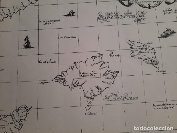 Mapas contemporáneos: Lote 4 mapas reproducción Baleares Mallorca Ibiza Menorca Editorial Ripoll 70 x 54 1981 - Foto 3 - 220838027