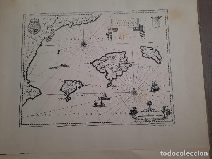 Mapas contemporáneos: Lote 4 mapas reproducción Baleares Mallorca Ibiza Menorca Editorial Ripoll 70 x 54 1981 - Foto 4 - 220838027