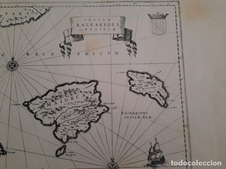 Mapas contemporáneos: Lote 4 mapas reproducción Baleares Mallorca Ibiza Menorca Editorial Ripoll 70 x 54 1981 - Foto 5 - 220838027