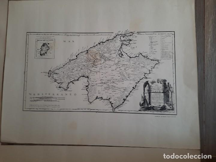 Mapas contemporáneos: Lote 4 mapas reproducción Baleares Mallorca Ibiza Menorca Editorial Ripoll 70 x 54 1981 - Foto 6 - 220838027