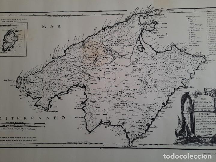 Mapas contemporáneos: Lote 4 mapas reproducción Baleares Mallorca Ibiza Menorca Editorial Ripoll 70 x 54 1981 - Foto 7 - 220838027