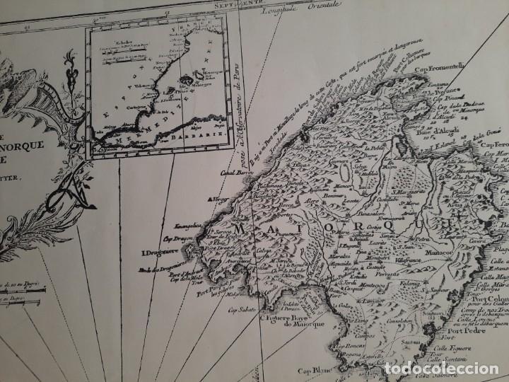 Mapas contemporáneos: Lote 4 mapas reproducción Baleares Mallorca Ibiza Menorca Editorial Ripoll 70 x 54 1981 - Foto 9 - 220838027