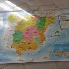 Mappe contemporanee: MURAL MAPA ESCOLAR/COLEGIO DE ESPAÑA POLITICO Y FISICO. Lote 221155916