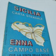 Mapas contemporâneos: MAPA DE SICILIA AÑOS 80. Lote 221442230
