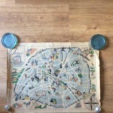 Cartes géographiques contemporaines: ANTIGUO MAPA DE PARIS - AÑO 1946. Lote 221544105