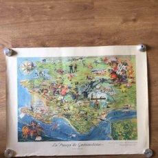 Mapas contemporáneos: MAPA ANTIGUO DE FRANCIA AÑOS 40. Lote 221544320