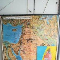 Mapas contemporáneos: MAPA ESCOLAR ANTIGUO TESTAMENTO AÑO 1972 158×157 CM. Lote 221666183