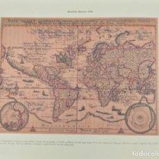 Mapas contemporáneos: MAPA MUNDI MATHAÜS MERIAN 1646 FASCIMIL. Lote 222220502