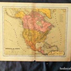 Mapas contemporáneos: MAPA AMERICA DEL NORTE LIT VDA DE ROLDAN LIBRERIA HERNANDO J REINOSO XIX. Lote 222238645