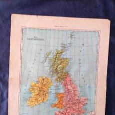 Mapas contemporáneos: MAPA DE REINO UNIDO XIX ISLAS BRITANICAS. Lote 222238908