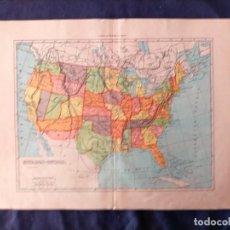 Mapas contemporáneos: MAPA DE ESTADOS UNIDOS DEL XIX POR ESTADOS. Lote 222239033