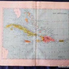 Mapas contemporáneos: MAPA DE LAS ANTILLAS XIX. Lote 222239245
