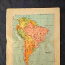 Mapas contemporáneos: MAPA AMERICA MERIODIONAL HISPANOAMERICA XIX. Lote 222239627