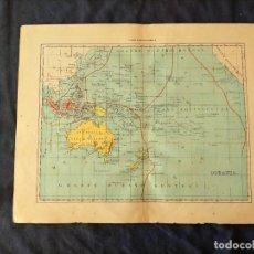 Mapas contemporáneos: MAPA DE AUSTRALIA GRAN OCEANO EQUINOCCIAL OCENIA XIX. Lote 222240743
