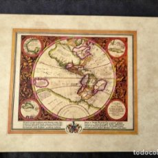 Mapas contemporáneos: FASCIMIL CARTA DE NAVEGACION AMERICA FIUE INDIA NOVA. Lote 222246257