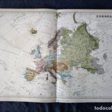 Mapas contemporáneos: MAPA DE EUROPA MONTANER Y SIMON 1876. Lote 222248405