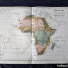 Mapas contemporáneos: MAPA DE AFRICA MONTANER Y SIMON BARCELONA 1876. Lote 222248567