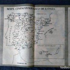 Mapas contemporáneos: MAPA CINEMATOGRAFICO DE ESPAÑA 52 POR 36. Lote 222259625