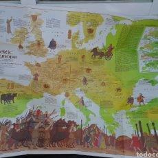 Mapas contemporáneos: EXCEPCIONAL POSTER MAPA DE EUROPA CELTA. CON MAPA DE EUROPA ANTIGUA POR DETRÁS. AÑOS 70. Lote 222271523