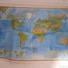 Mapas contemporáneos: EXCEPCIONAL PÓSTER MAPA MUNDI, POLITICO Y FISICO.. Lote 222271957