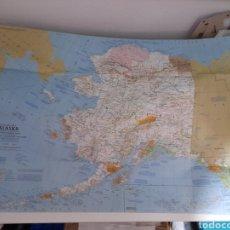 Mapas contemporáneos: EXCEPCIONAL PÓSTER MAPA DE ALASKA. BELLEZAS Y BESTIAS. Lote 222273750