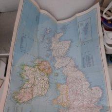 Mapas contemporáneos: EXCEPCIONAL PÓSTER MAPA DE LA INGLATERRA MEDIEVAL.. Lote 222274263