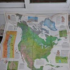 Mapas contemporáneos: EXCEPCIONAL PÓSTER MAPA DE LOS INDIOS DE AMÉRICA DEL NORTE Y DE LA AMERICA PRECOLOMBINA. Lote 222274778