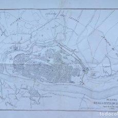 Mapas contemporáneos: ZARAGOZA 1809 - GUERRA DE LA INDEPENDENCIA - MAPA GRAN FORMATO - MUY RARO. Lote 222307007