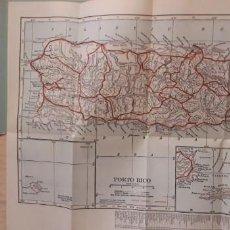Mapas contemporáneos: ** POCKET MAPA DE PUERTO RICO ** WALDROP PHOTOGRAPHIE CO. EN INGLES. Lote 222996775