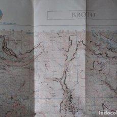 Mapas contemporáneos: BROTO PLANO MILITAR. Lote 223748715