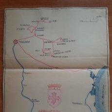 Mapas contemporáneos: MAPA ARTESANAL DE LANGUEDOC. Lote 223754881