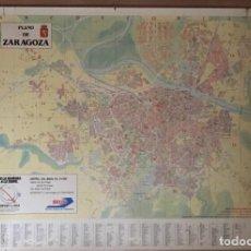 Mapas contemporáneos: ANTIGUO PLANO DE ZARAGOZA DEL 1988 PROPAGANDA SEUR. Lote 223757377