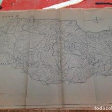 Mapas contemporáneos: PLANO GEOLÓGICO, CUENCA DEL PANTANO DEL AGUJERO. MÁLAGA, 1960.. Lote 224229480