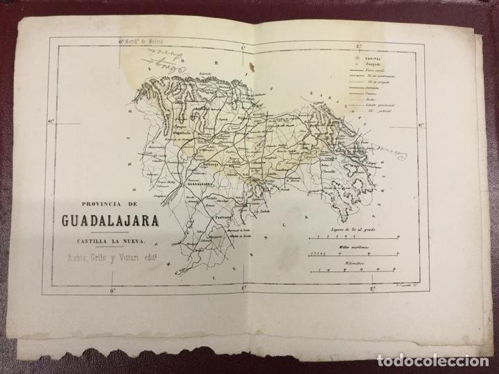 Mapas contemporáneos: 3 MAPAS - PROVINCIA DE TERUEL GUADALAJARA CUENCA - B CUARANTA Grabador - Rubio Grilo y Vitturi 32x23 - Foto 2 - 224844410