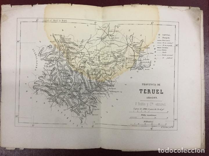 Mapas contemporáneos: 3 MAPAS - PROVINCIA DE TERUEL GUADALAJARA CUENCA - B CUARANTA Grabador - Rubio Grilo y Vitturi 32x23 - Foto 3 - 224844410